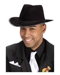 black mafia hat as al capone u0026 gangster hat horror shop com