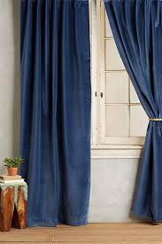 Denim Curtain Slub Velvet Taupe Curtain
