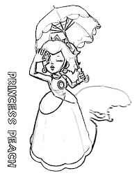 free printable coloring princess peach coloring page 33 about