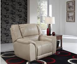 power lay flat recliner in buff or coffee color upholstery by