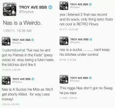 unearthed tweets of the day troy ave doesn u0027t like nas rap dose