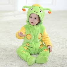 Baby Caterpillar Halloween Costume Girls Boys Cute Carton Caterpillar Warm Soft Cosplay Onesie