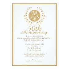 50 year wedding anniversary 50 year anniversary invitations