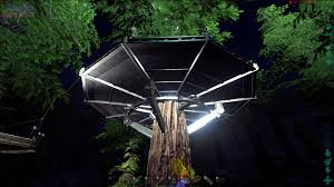 gloomy ark 83 metal tree platform like ufo ark survival