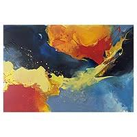 abstract primary or jewel colors paintings at novica