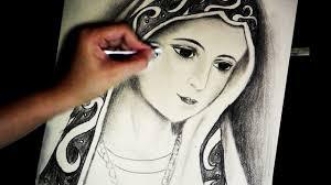 virgin mary u0027s portrait pencil speed drawing by joecymijares youtube