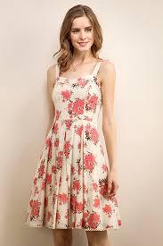 sun dress women floral dress flower sundress sleeveless soieblu