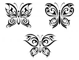 s for designs butterfly tribal clip library