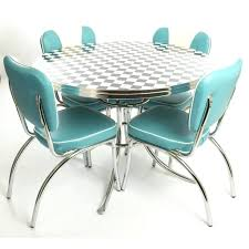 Retro Dining Table And Chairs Diner Style Table And Chairs Retro Diner Style Dining Table And 4