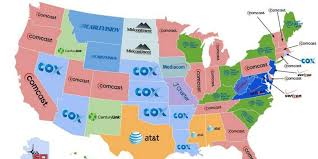 Image Of United States Map This Is The United States Of Comcast Depressing Map Shows Huffpost