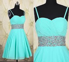 a line sweetheart short mint green chiffon beaded prom dress with