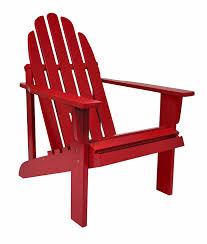 Painted Wooden Patio Furniture Amazon Com Shine Company Catalina Adirondack Chair Chili Pepper