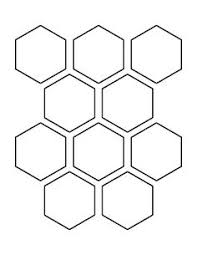 2 inch hexagon pattern use the printable outline for crafts