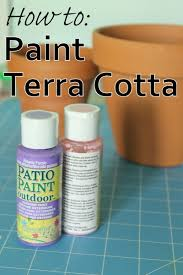 decoart blog crafts how to paint on terra cotta