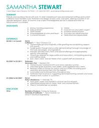 Restaurant Resume Samples by Best Servers Resume Example Livecareer