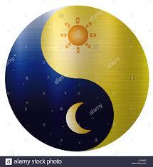 ying yang sun moon spiritual stock photo royalty free