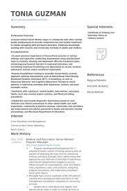 sample resumes for social workers social work resume sample