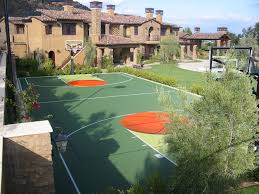 backyard basketball court gym flooring home tennis courts