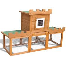 outdoor rabbit bunny hutch small animal house pet cage castle