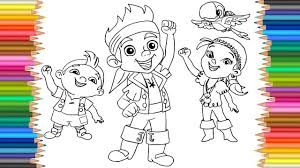 jake neverland pirates coloring izzy cubby