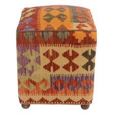 Handmade Ottoman Big Save Tawney Kilim Upholstered Handmade Ottoman By Millwood