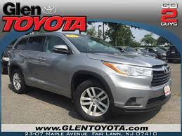 2014 toyota highlander le v6 awd toyota highlander le awd in jersey for sale used cars on