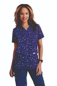 print scrubs top for women nurse uniform scrubs dixie