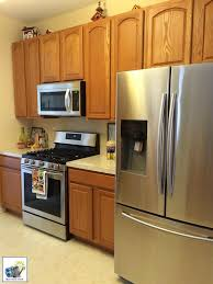kitchen ideas with oak cabinets and stainless steel appliances white painted oak kitchen cabinets reveal momhomeguide