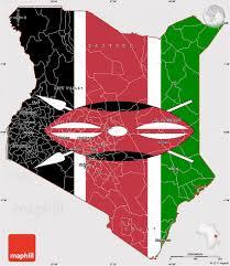 Images Kenya Flag Flag Simple Map Of Kenya Flag Rotated