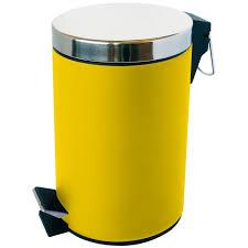 poubelle cuisine jaune poubelle à pédale infinity satin 3l jaune jaune achat vente