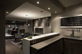 Whats A Wet Bar 22 Finished Basement Contemporary Design Ideas