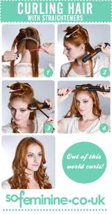 different ways to curl your hair with a wand how to curl hair with straighteners sofeminine