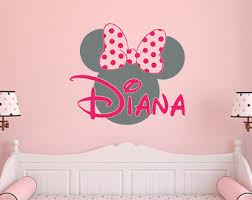 Pink Minnie Mouse Bedroom Decor Mouse Wall Decal Photography Minnie Mouse Wall Decor Home Decor