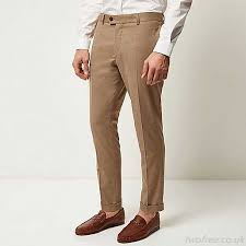 mens light colored jeans really light brown slim trousers men s trousers men s pants nzd44 47