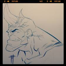 rhino sketch by marcofontanili on deviantart