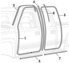 Exterior Door Seal Door Seals 1999 07 Chevy Silverado 1999 07 Gmc
