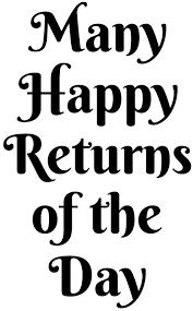 many happy returns of the day printables pinterest happy