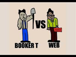 interesting surface comparison of booker t washington and w e b