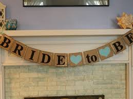 Bridal Shower Decor by Bride To Be Banner Shabby Chic Bridal Shower Decorations