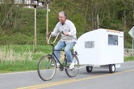 a real bike trailer house