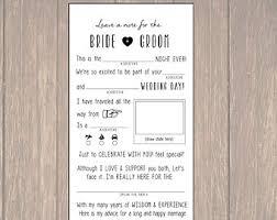 wedding advice cards wedding mad lib wedding advice card newlywed advice card