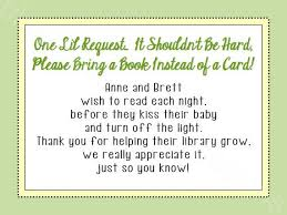 baby shower bring a book instead of a card books instead of cards baby shower poem 8685