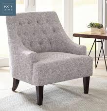 grey linen chair 904068 living coaster grey linen accent chair