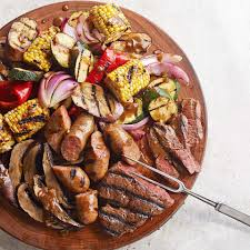 mixed grill with balsamic mustard vegetables recipe eatingwell