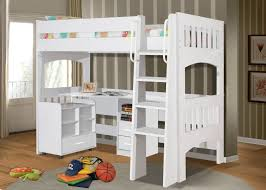 miami single white loft bunk