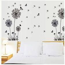 butterfly flying in dandelion bedroom stickerspoastoral style