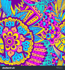 doodle indian bright beautiful pattern pattern stock vector 301502531