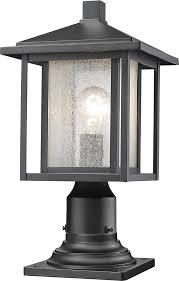 outdoor pole light fixtures interior decorative post light fixture 0 z lite 554phm 533pm bk