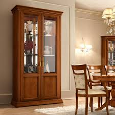 cherry wood china cabinet treviso ornate cherry wood 2 door glass display cabinet f d