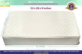 Milliard Crib Mattress Topper Hypoallergenic Crib Mattress Bamboo Crib Mattress Pad Waterproof